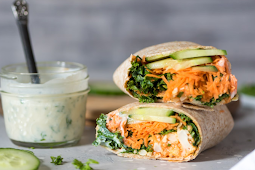 VEGAN BUFFALO CAULIFLOWER WRAPS #vegan #vegetarian #soup #breakfast #lunch