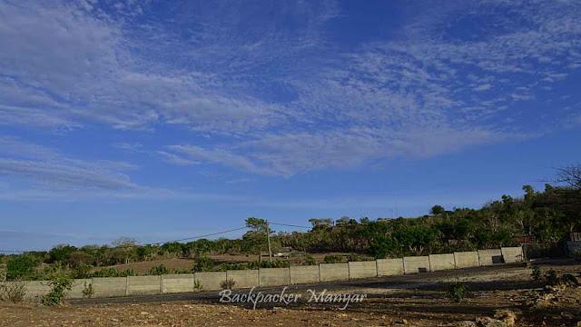 Area lahan kosong Pantai Tegal Wangi Bali