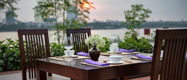Nhà hàng ven sông - Mô hình đầu tư dự án Aqua Melody