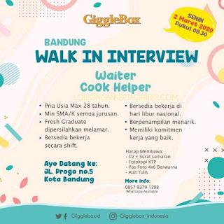 Loker Giggle Box Bandung terbaru 2020
