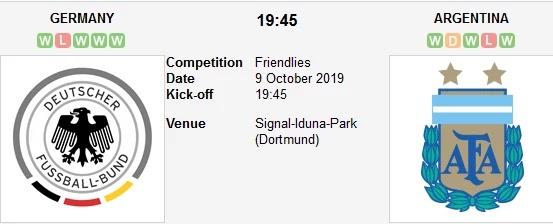 مشاهدة مباراة ألمانيا والأرجنتين بث مباشر 09/10/2019 مباراة ودية