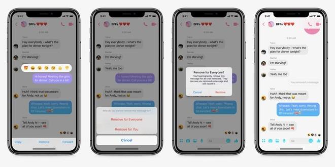 """Facebook Messenger cho phép xóa tin nhắn đã gửi nhưng phải """"lẹ tay"""" trong 10 phút"""