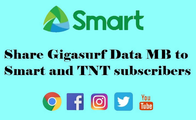 Smart Pasadata : How to Share Gigasurf Data MB to Smart and TNT subscriber