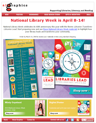 National Library Week poster from ALA graphics
