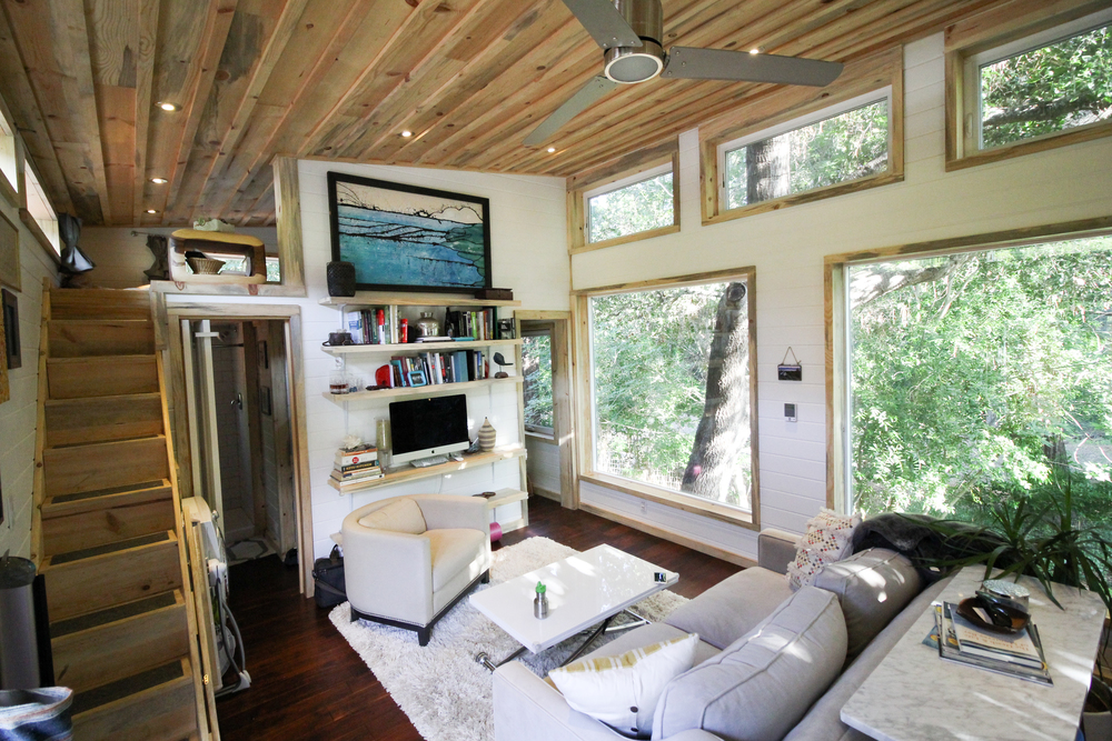 Tiny House Town Urban Cedar Cabin 400 Sq Ft