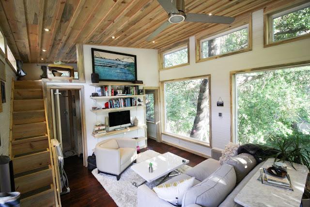 the urban cedar cabin interior