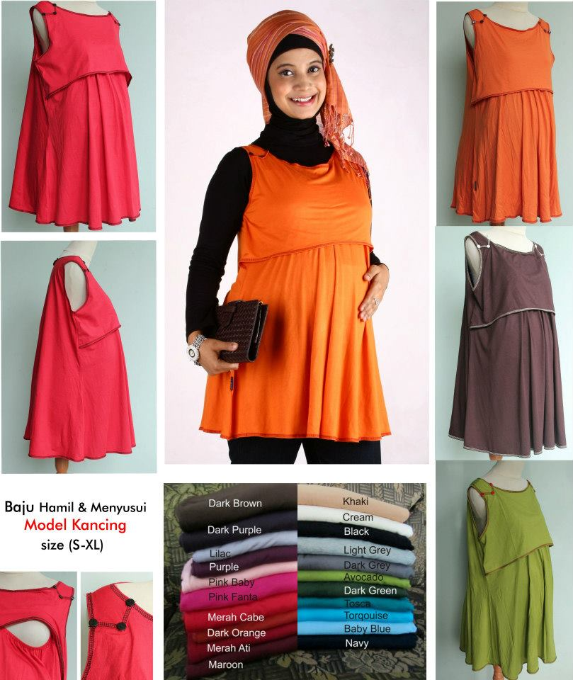 Model baju hamil terbaru  gamis muslim modis untuk kerja