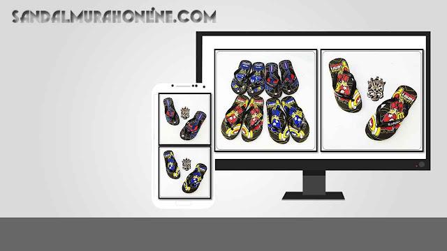 Pusat Sandal Karakter Anak Termurah - Sandal AMX Karakter Spon TG