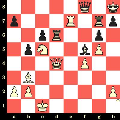 Les Blancs jouent et matent en 4 coups - Alexander Goldin vs Andrei Lukin, Klaipeda, 1988