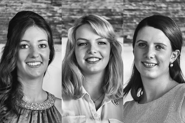 Die Naheweinmajestäten Clarissa (M.), Franziska und Laura (M.).