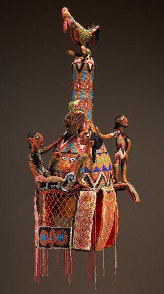 nigieryjska korona szydelkiem