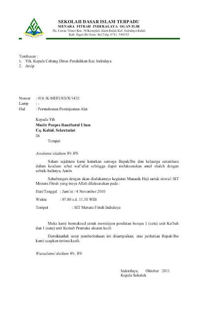 Contoh Surat Dinas Sekolah (via: contohsurat.co)