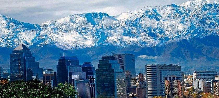 A view of the Chilean capital