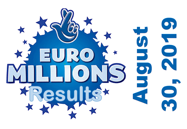 EuroMillions Results for Friday, August 30, 2019