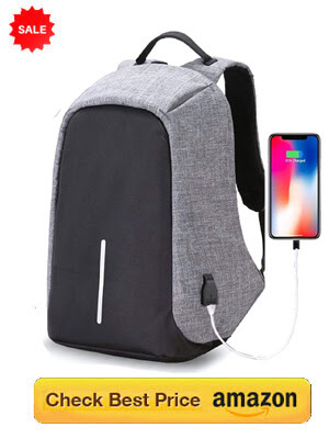 Anti-Theft Laptop Bag with USB Charging