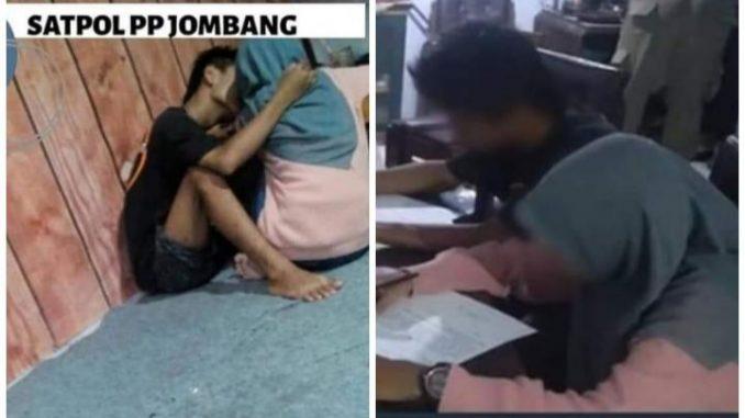 Terciduk, Pasangan ABG Asal Jombang Mesum di Warkop, Diamankan Satpol PP