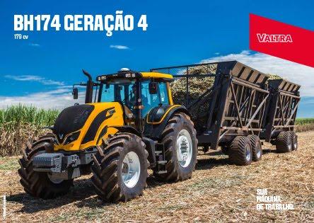 Com motor eletrônico, trator agrícola garante a potência necessária aos implementos para diferentes operações de campo