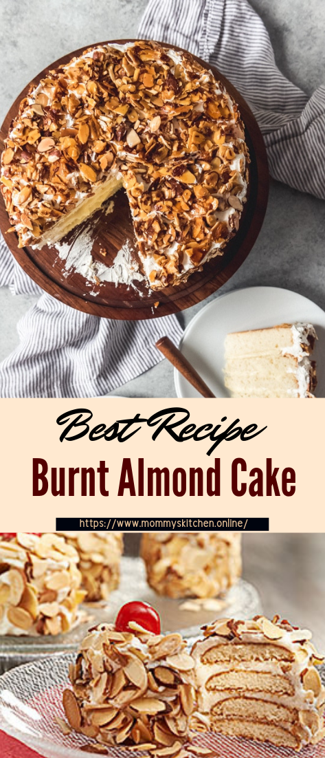 Burnt Almond Cake #desserts #cakerecipe #chocolate #fingerfood #easy