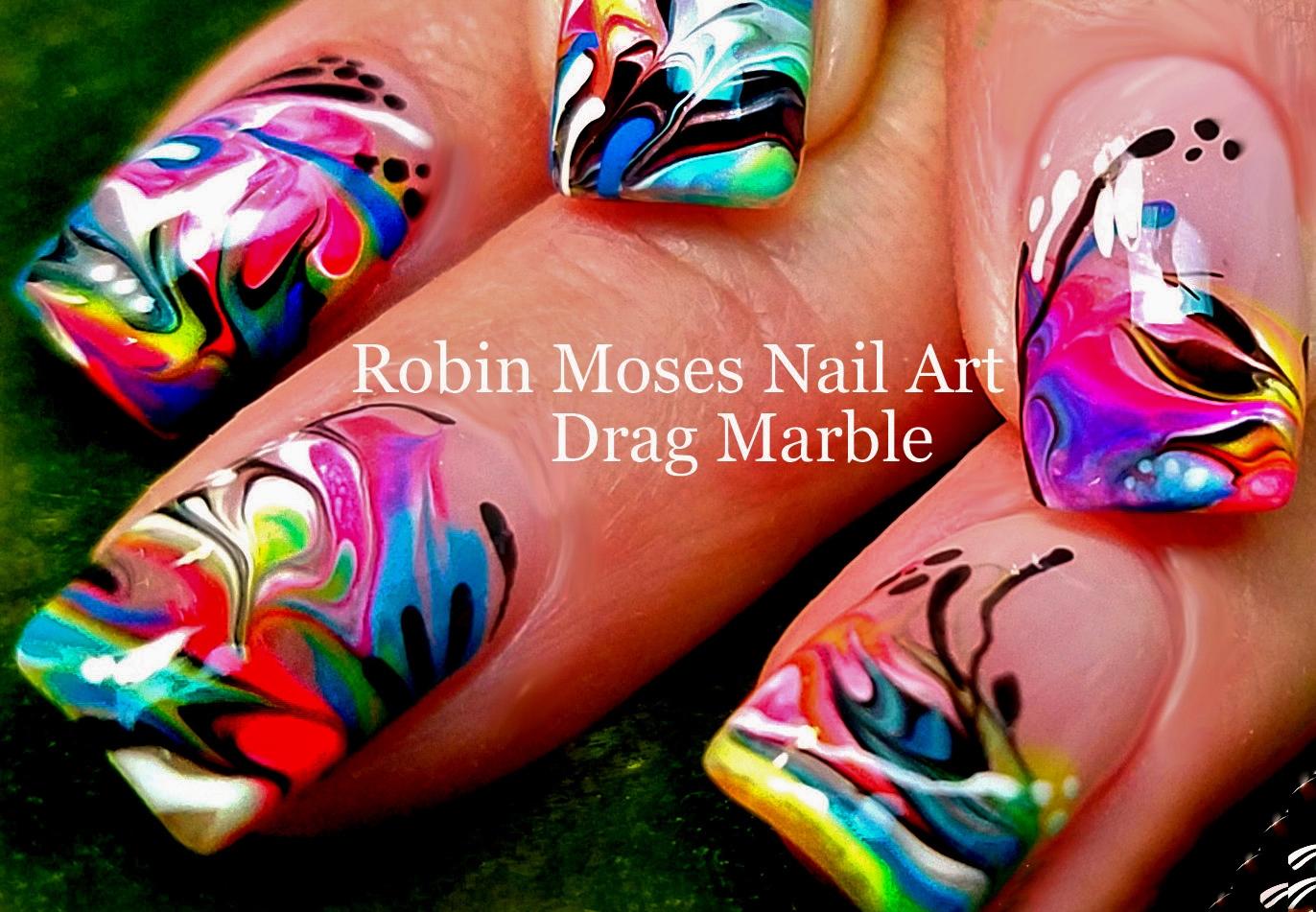 Robin moses nail art pink diva no water drag marble marbling nail art wizard phd prinsesfo Gallery
