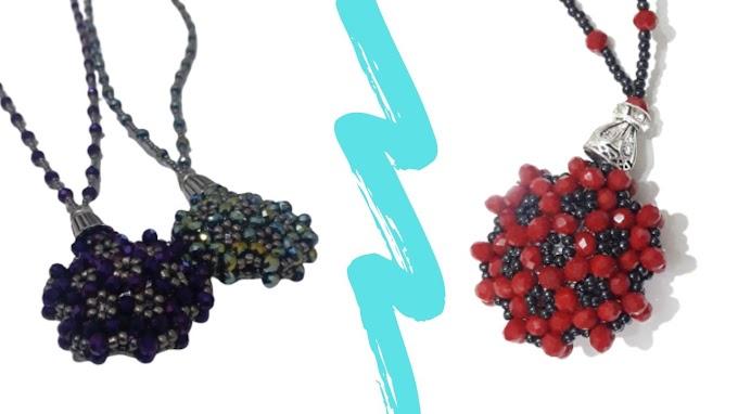 Kristal boncukla kolye yapımı | kristal boncuk cevşen yapımı- VİDEO