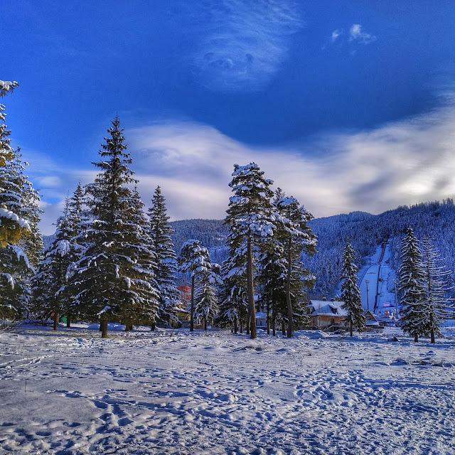 górki krajobraz, widok na skocznię-krokiew, Tatry, Zakopane