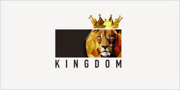 Kumpulan Desain Logo Low Poly - Kingdom Low Polygon Logo