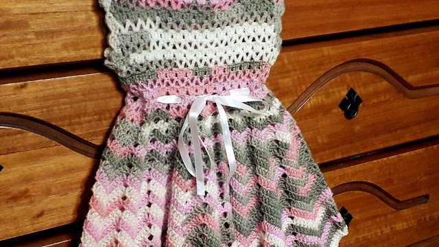 cbace80a5 Vestido bebe crochet (ganchillo) tutorial paso a paso - Crochet baby dress  step by step tutorial