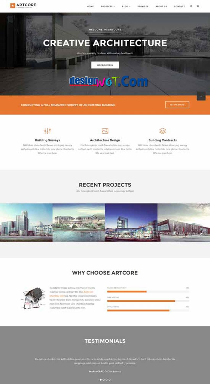 ARTCORE Creative Architecture-HTML Template