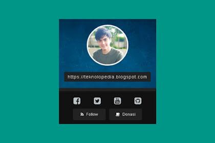 Cara Memasang Widget Profil di Sidebar Blog Ala Kurazone