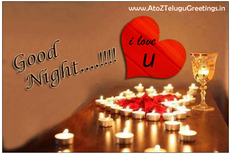 Love Symbal Good Night Greetings Wishes