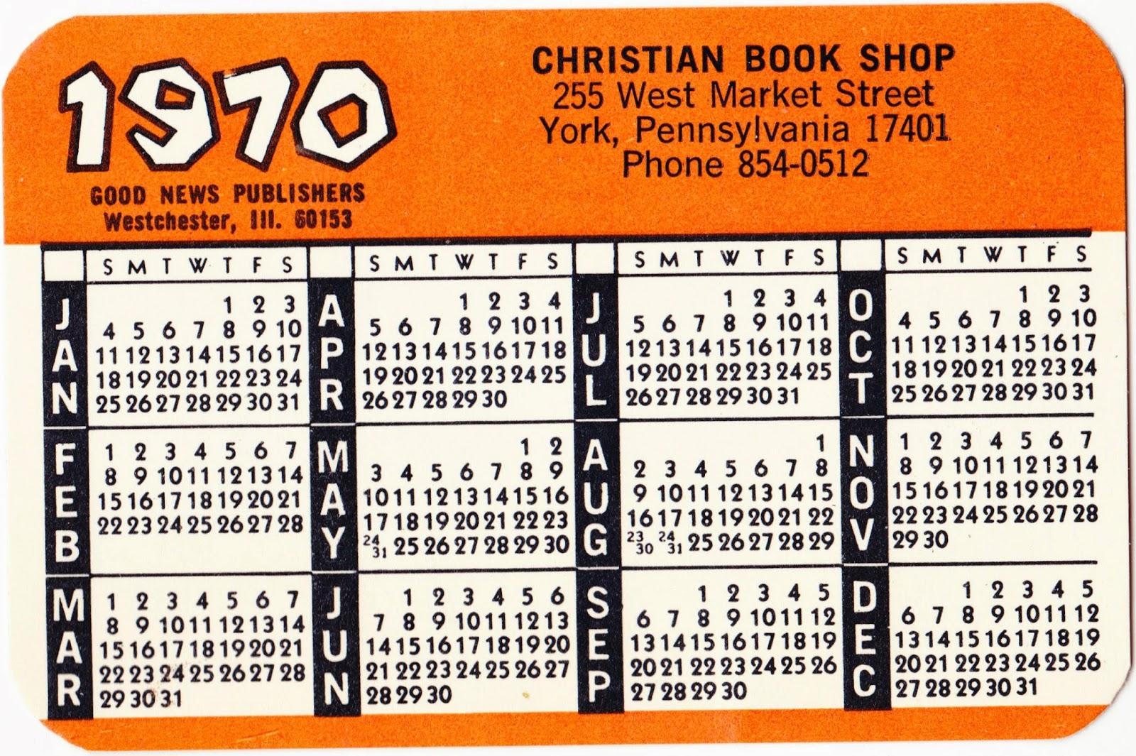 Christian Calendar Publishers Church Liturgical Calendars Ashby Publishing Papergreat 1970 Calendar Tucked Away Inside 1936 Book