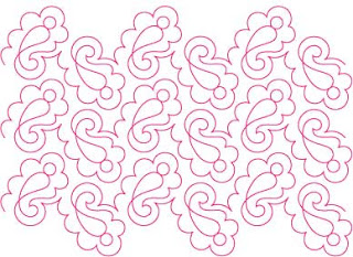 'Kiss' digital pattern by Melonie J Caldwell and Patricia Ritter