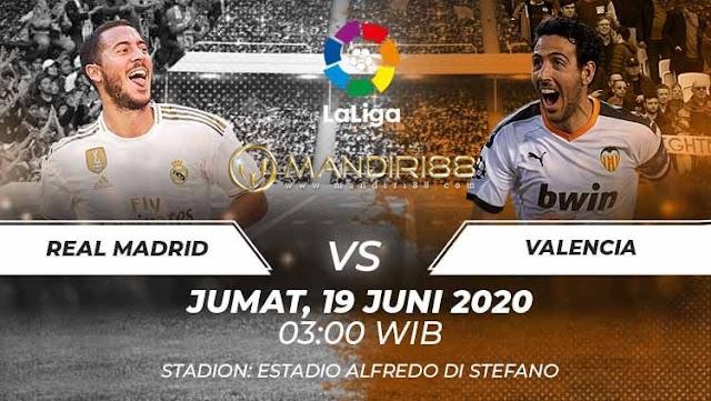 Prediksi Real Madrid Vs Valencia, Jumat 19 Juni 2020 Pukul 03.00 WIB