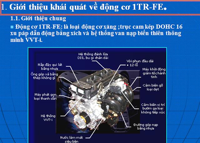 Đồ án khảo sát hệ thống làm mát động cơ ô tô TOYOTA 1TR-FE