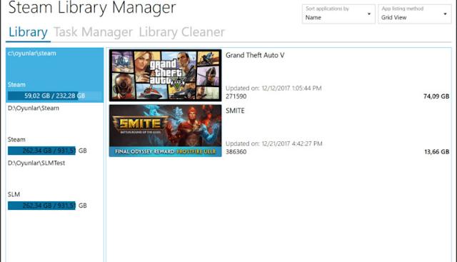 تحميل برنامج Steam Library Manager
