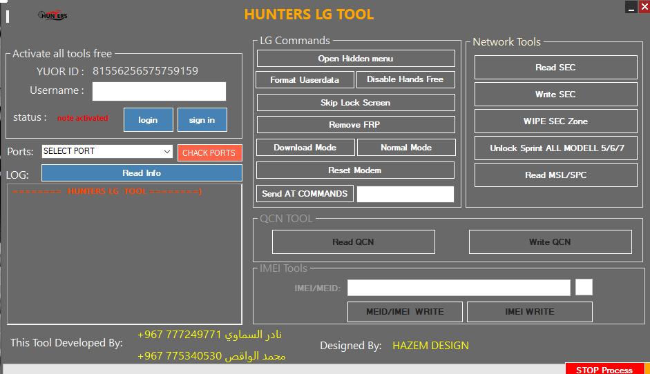 Hunter LG Tool Free Download