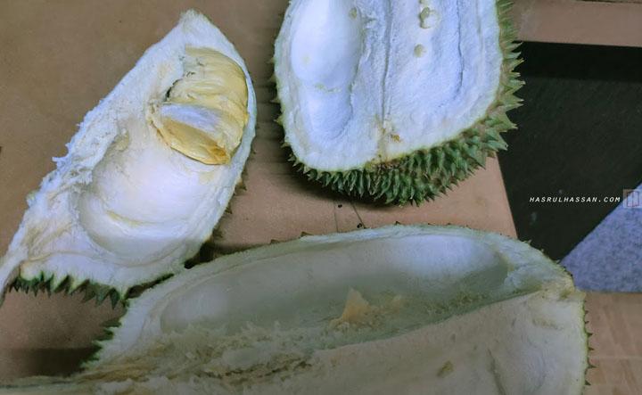 rezeki dapat makan buah durian waktu PKPB