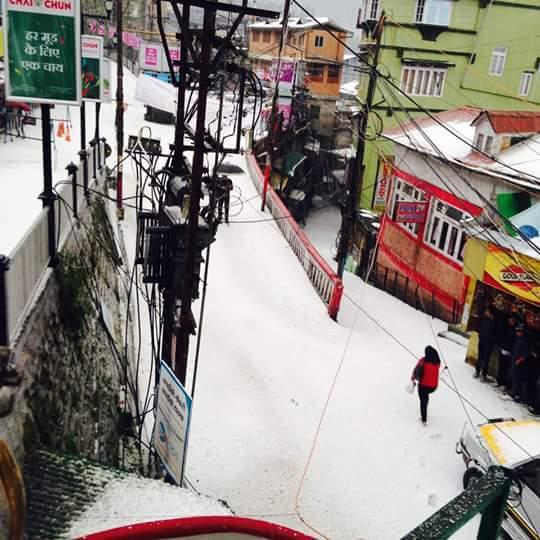 Hailstone in Darjeeling 4