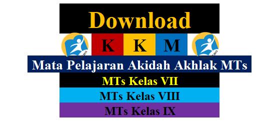 Download KKM Akidah Akhlak MTs Kelas 7,8,9, Format Excel