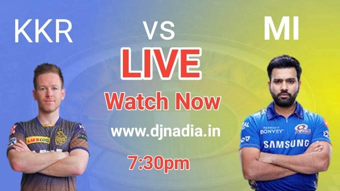 KKR vs MI live Match Watch now vivo IPL 2021,Kolkata Knight Riders vs Mumbai Indians live match updates