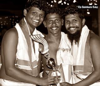 K sateesh with Award