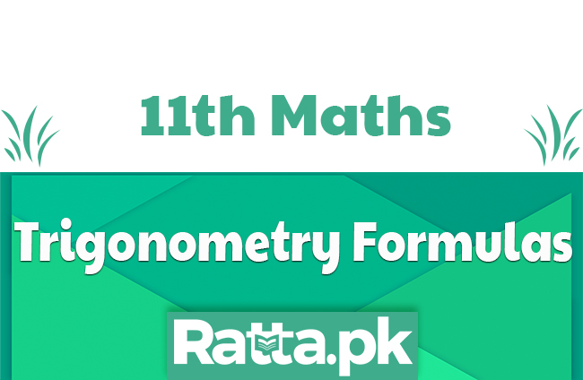 1st Year Trigonometry Formulas with Proofs Solved