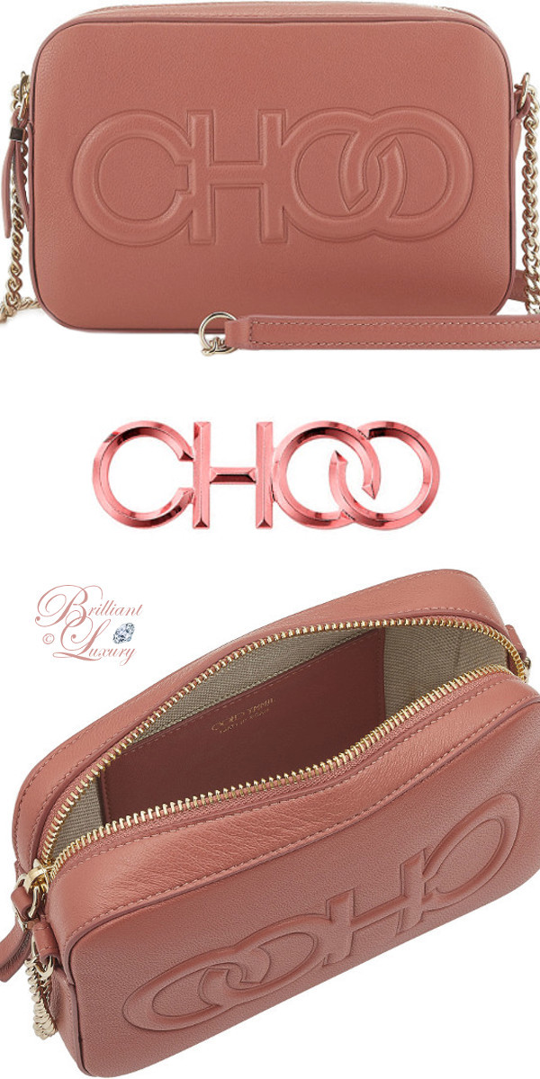 Brilliant Luxury ♦ Jimmy Choo Balti Rosewood Nappa Leather Embossed Choo Logo Mini Bag