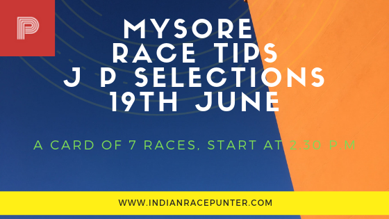 Mysore Race Tips 19th June