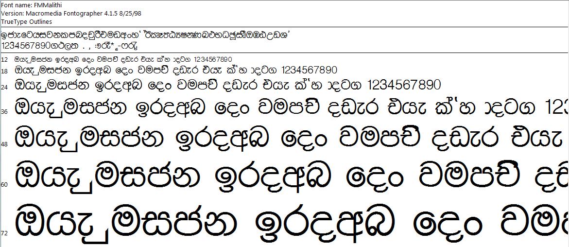 Download Sinhala Font Pack Free Download
