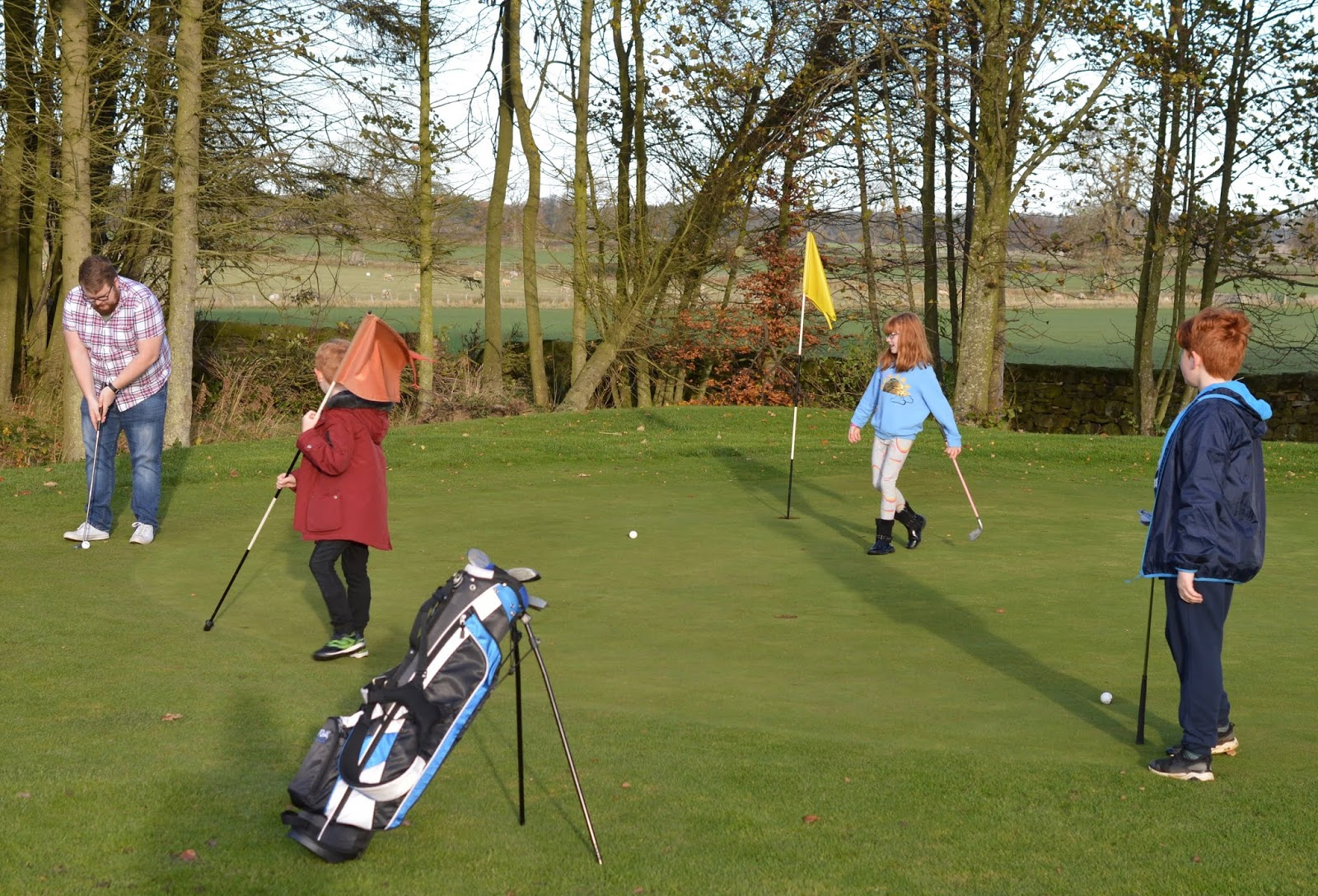 10 Reasons to Stay at Matfen Hall in Northumberland with Kids  - Par 3 golf course with kids
