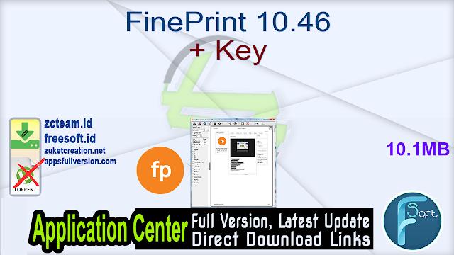 FinePrint 10.46 + Key_ ZcTeam.id