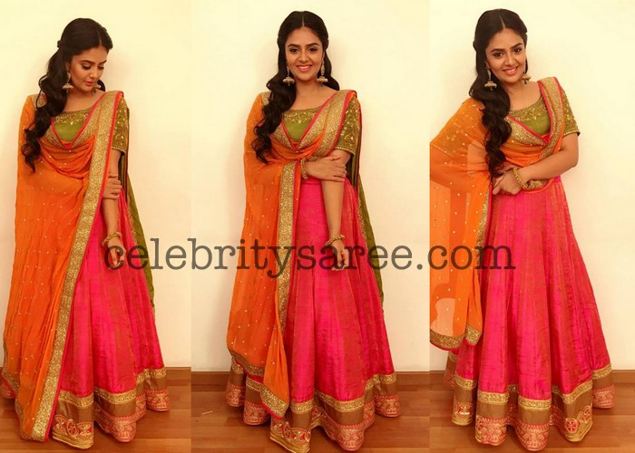 Sreemukhi Lehengas Collection by Sony Reddy - Saree Blouse
