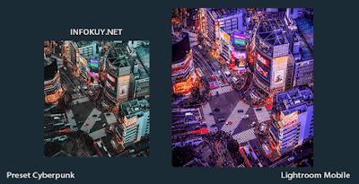 Rumus Lightroom Cyberpunk