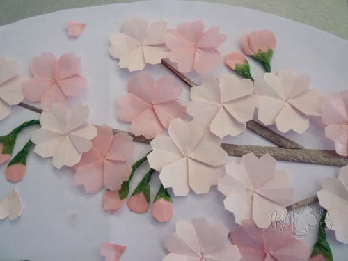 How to Make Origami Cherry Blossom Step by Step? | The Idea King ... | 375x500